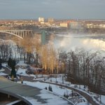 View of American Falls and Rainbow Bridge from our window.