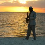 sax player each evening, weather permitted