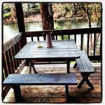 Our own private deck overlooking the Rogue River.