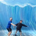 photo op at the surf museum