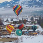 Winthrop Balloon Festival from the air