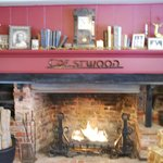 One of many fireplaces at the Crestwood