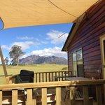 Dads cottage deck view to Mt Roland