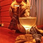 wine and puppet
