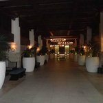 Hotel lobby (at night)