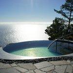 Spa pool at far end of resort