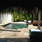private bungalow pool and lounge area