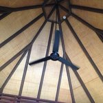 Roof and ceiling fan in my bungalow