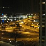 View from 12th floor in another room at nite