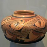 Just one example of the Native American pottery on exhibit at the museum.