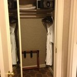Closet with robe and safe