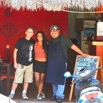 Jez, Mellissa & Obed the wonder chef!