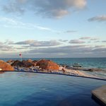 View from edge of infinity pool.  This area receives the most sun throughout t