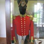British officer`s uniform.