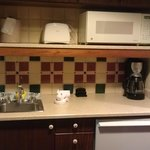 Studio kitchenette with lots of cabinet space
