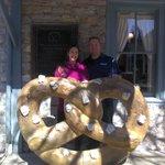 In front of the Julius Sturgis Pretzel Bakery