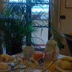 zona colazione con vista sul duomo