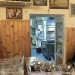 view into the kitchen
