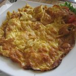 traditional Thai omelette with minced shrimp