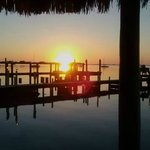This is an every night sunset fro ta beach cabanna