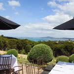 Outside seating at Mudbrick - super views