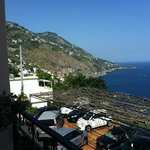 A view of the Amalfi coast from our room.