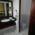 vanity & separate toilet