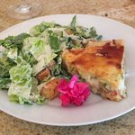 Ham Asparagus Quiche, Caesar Salad