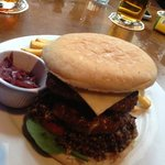 Haggis, bacon, cheese...and two burgers!