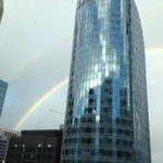 Rainbow from room window