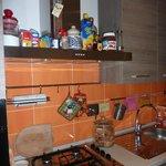 Frühstücksraum bzw. Küche mit Koch- und Essmöglichkeit