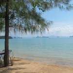 view from the roadside food stalls Pasai Beach