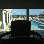 View of pool from Fitness/Gym area