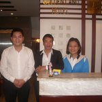 The very friendly staff - Danny, Mr. Loun (cook) & Tran-Ang (Reception)