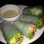 I love these Chicken Avocado Spring Rolls with wasabi sauce.