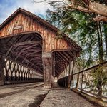 Covered bridge across street ftom Woodstock hotel