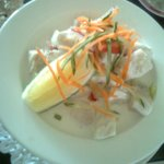 Kokoda - raw fish local delicacy and absolutely delicious!
