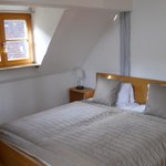 Double bed in quad room