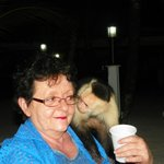 Monkey checking me out! He licked my face