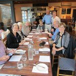 Nine of us dining at The River,Moruya