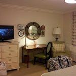 Flat panel TV and nice decor