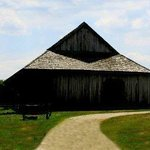 John Johnston's 1808 double pen log barn