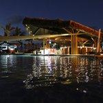 Swim Up bar at night