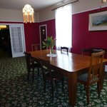 Dining room with large rimu table