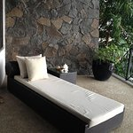 Lounge bed in the balcony