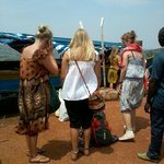 tourists about to start their journey to ssese
