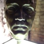 Hitler face statue