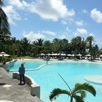 Main pool at Lux* Belle Mare