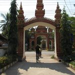 Riding through Vientiane...