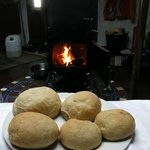 Yurt bread baking